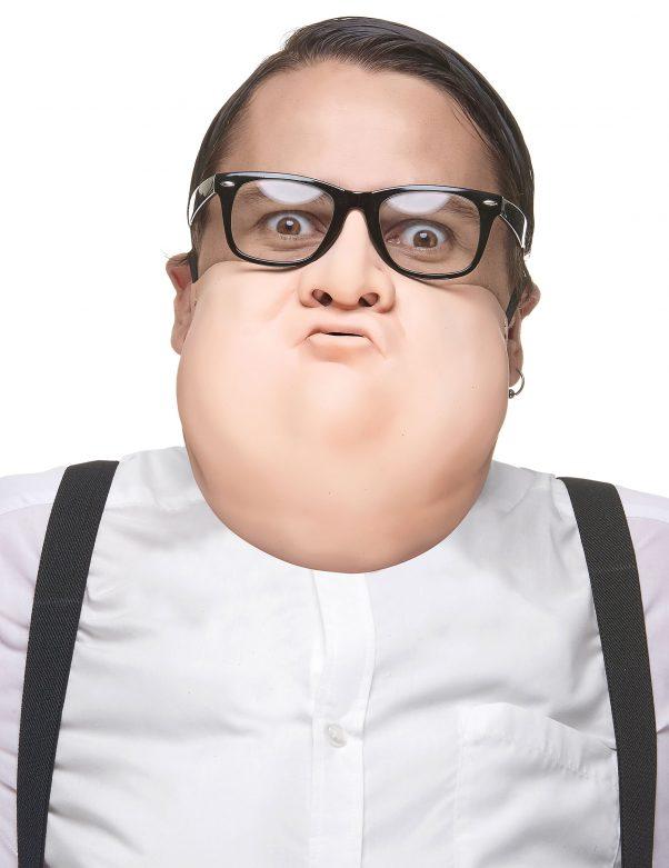 Photo du produit Demi masque grossissant en latex adulte