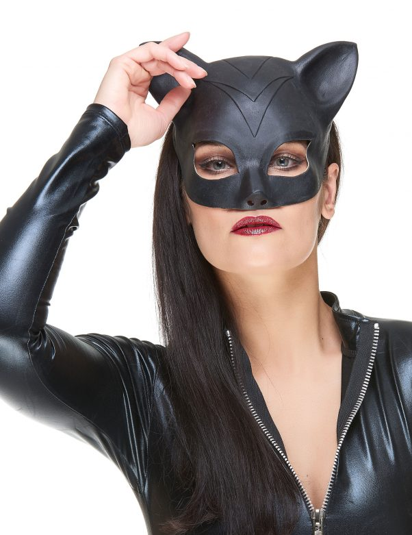 Photo du produit Demi masque Latex femme-chat adulte