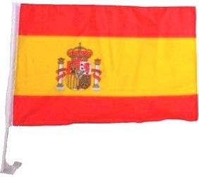Photo du produit Drapeau pour voiture supporter Espagne 30 X 46 cm