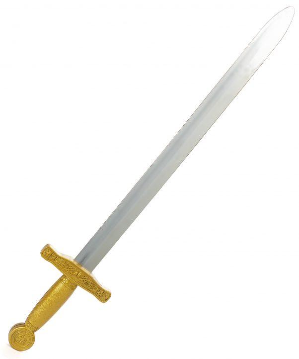Photo du produit Epée chevalier médiéval enfant en plastique 65 cm