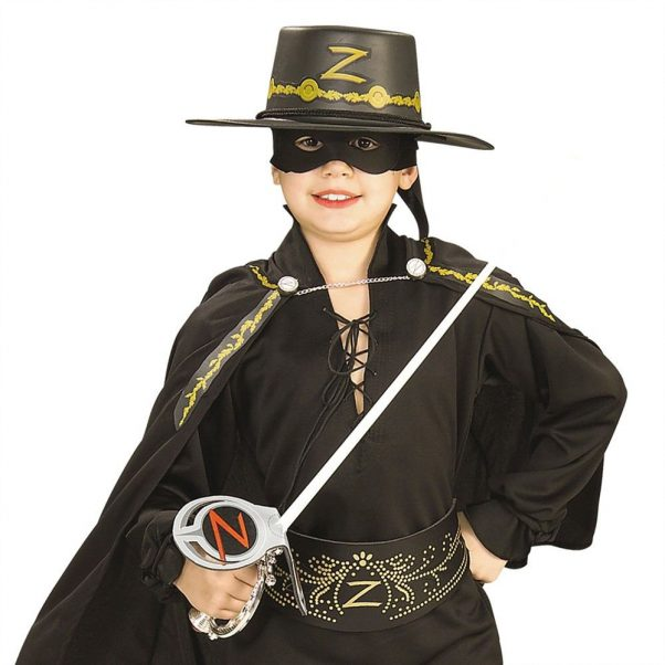 Photo du produit Kit Zorro Epée en plastique masque et chapeau enfant