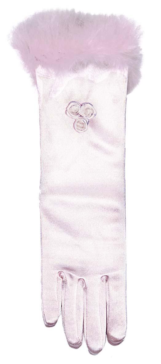 Photo du produit Gants princesse mi-longs roses enfant