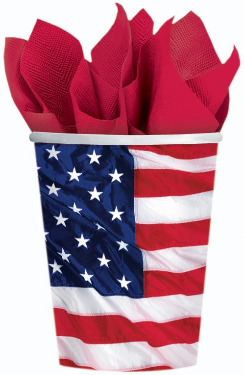 Photo du produit Gobelets drapeau américain