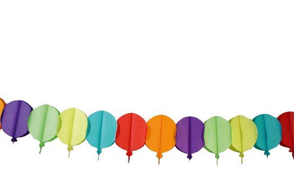 Photo du produit Guirlande ballons en papier 4 m