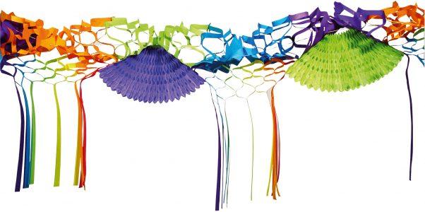 Photo du produit Guirlande papier multicolore