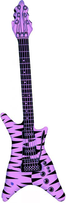 Photo du produit Guitare rock gonflable rose fluo