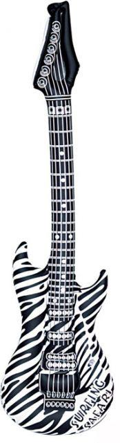 Photo du produit Guitare rock gonflable zébrée