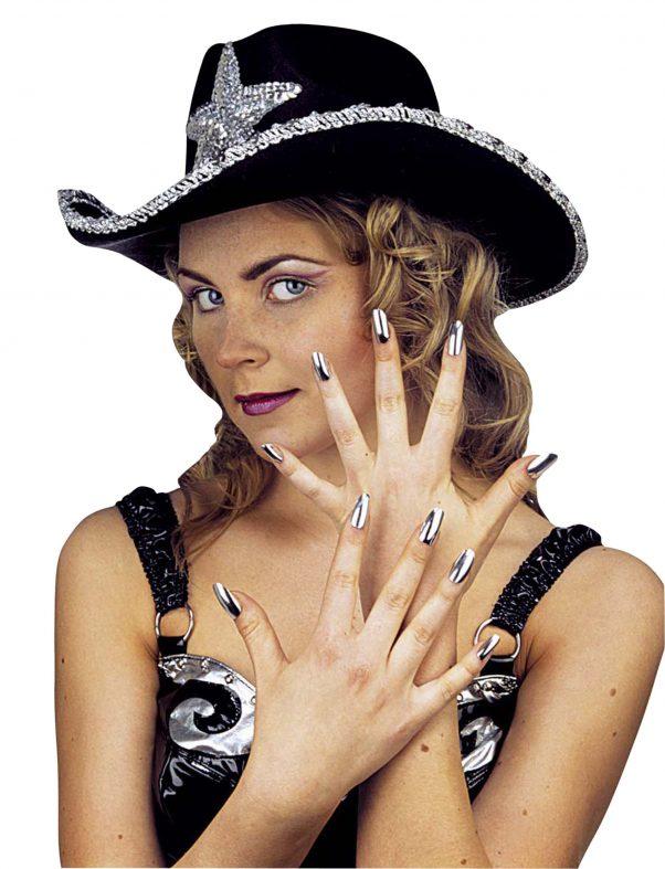 Photo du produit Kit de 15 faux ongles argent femme