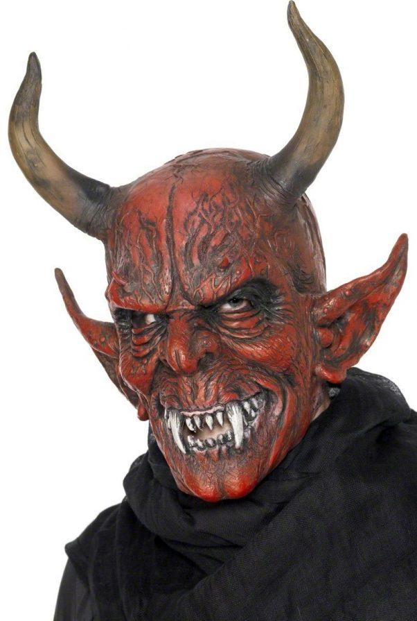 Photo du produit Masque démon à cornes adulte Halloween