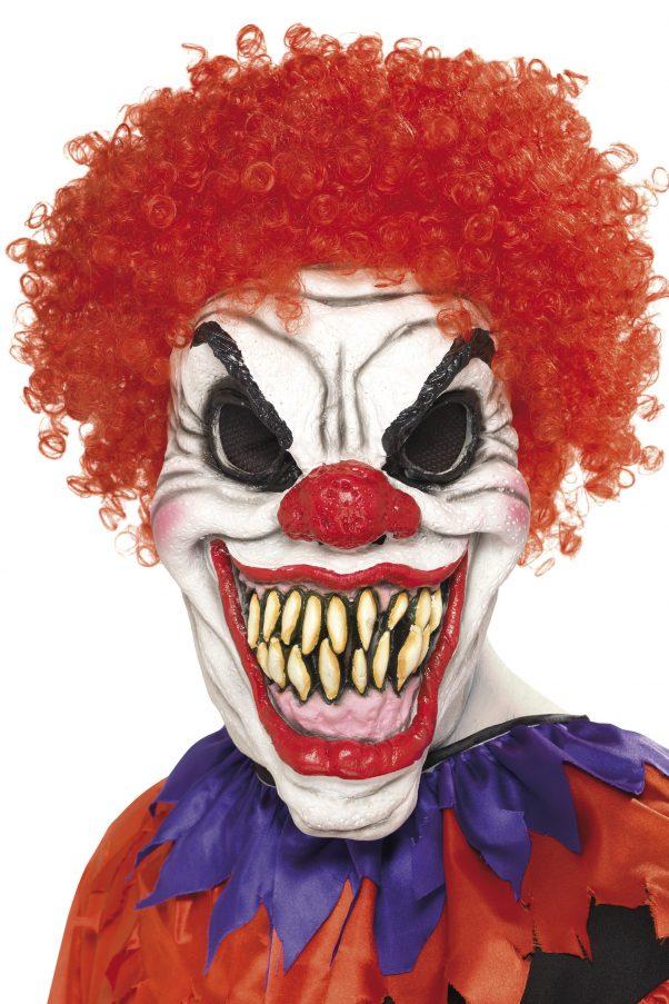 Photo du produit Masque clown cheveux rouges terrifiant adulte Halloween