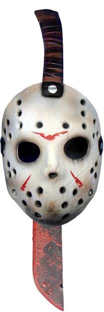 Photo du produit Machette et masque en plastique Jason Vendredi 13