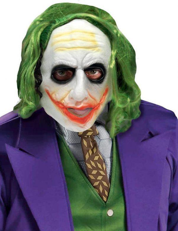 Photo du produit Masque Joker avec cheveux adulte