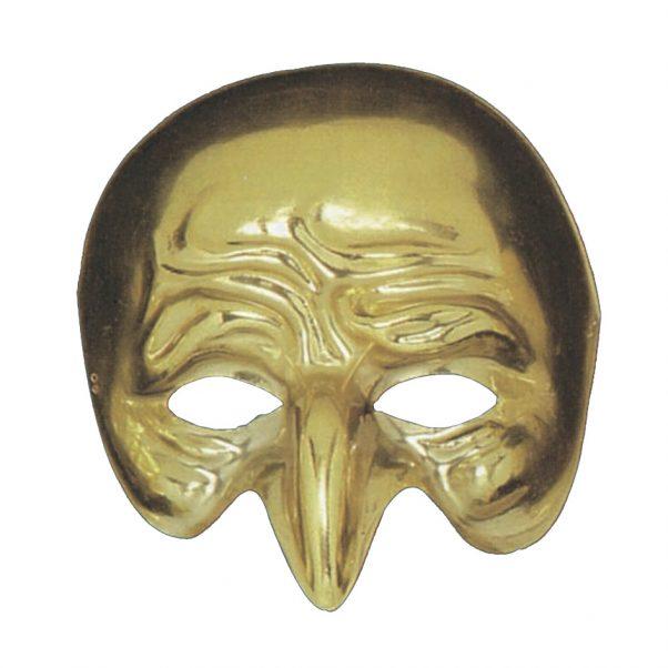 Photo du produit Demi masque doré nez crochu adulte