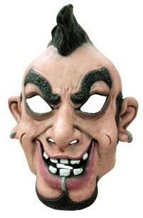 Photo du produit Masque caricature punk homme crête et piercing