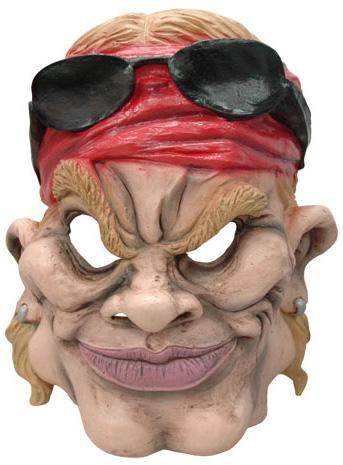 Photo du produit Masque caricature motard américain adulte