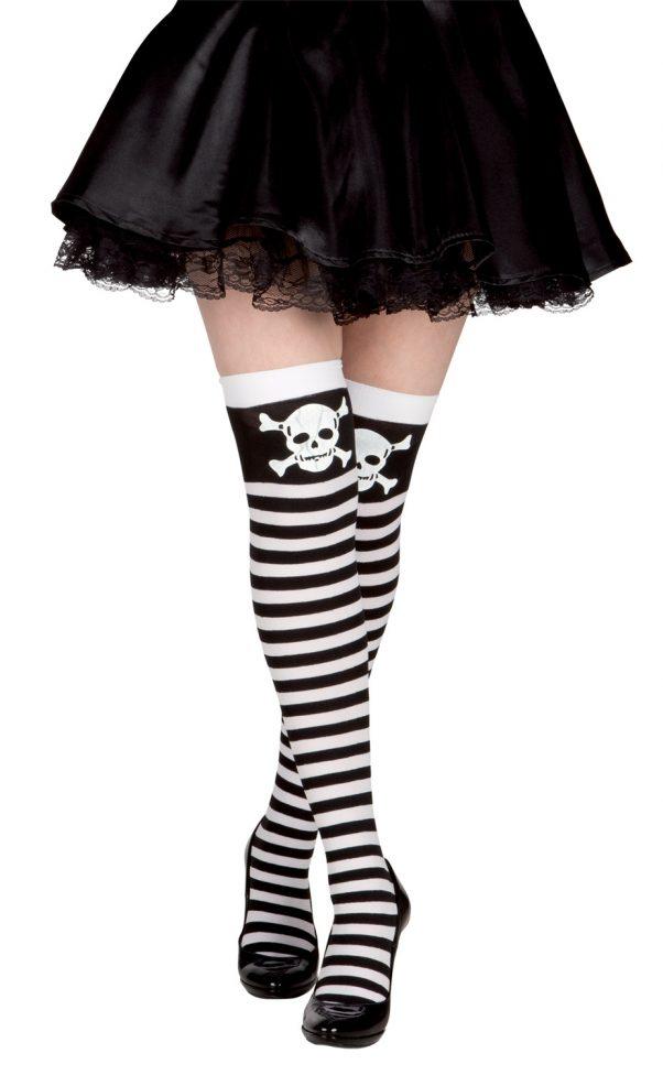 Photo du produit Bas rayés pirate noir et blanc