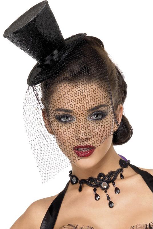 Photo du produit Mini chapeau haut de forme noir femme