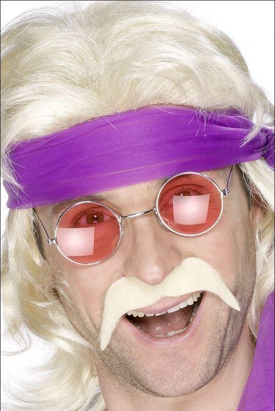 Photo du produit Moustache blonde années 70' adulte
