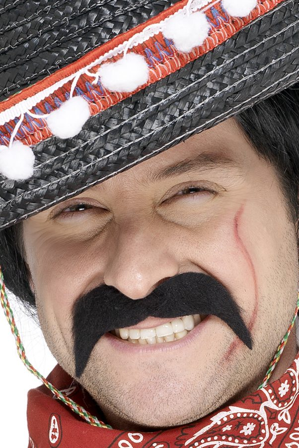 Photo du produit Moustache noire bandit mexicain adulte
