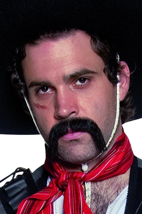 Photo du produit Moustache noire western mexicain adulte