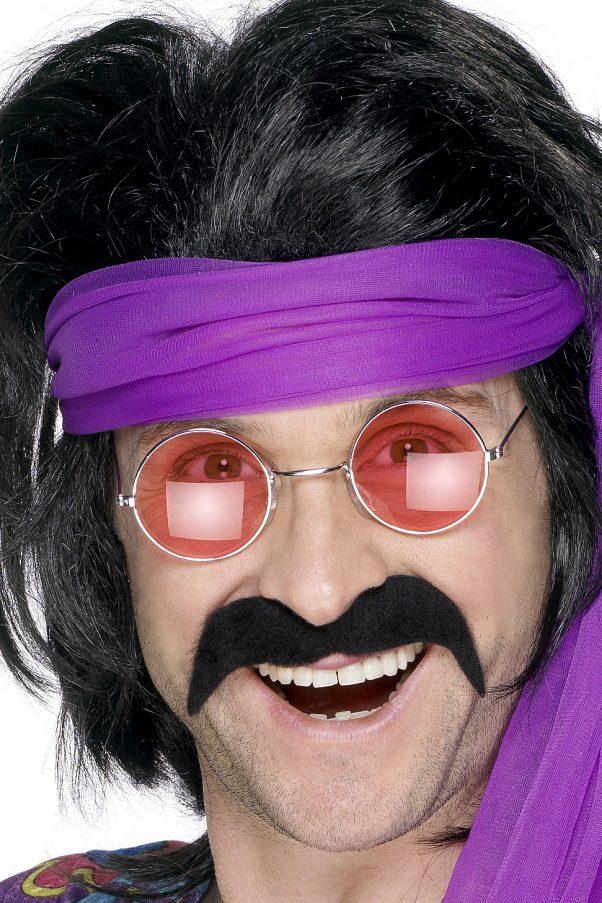 Photo du produit Moustache noire années 70' adulte
