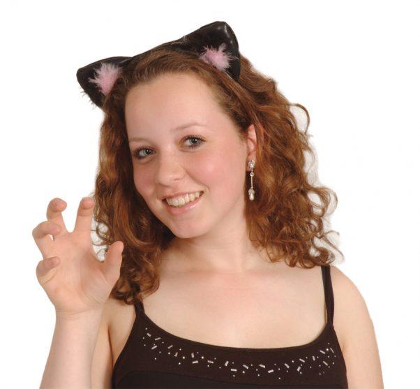 Photo du produit Oreilles de chat noires et roses
