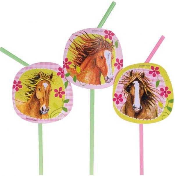 Photo du produit Pailles flexibles chevaux