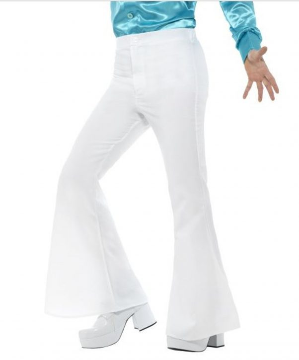 Photo du produit Pantalon disco blanc homme