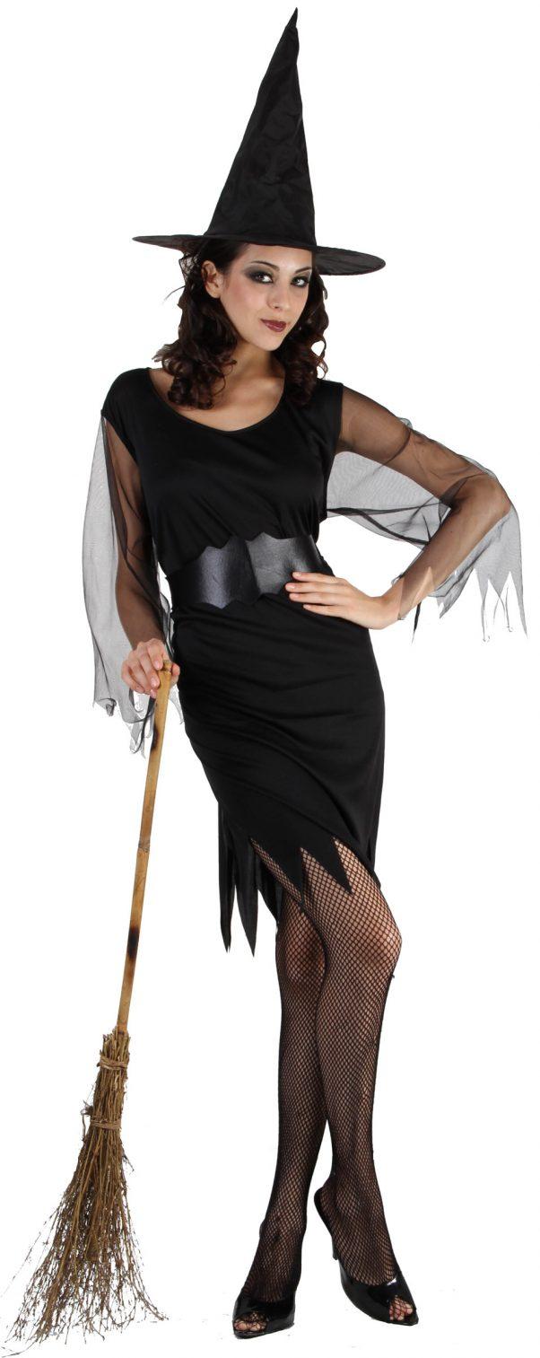 Photo du produit Déguisement sorcière manches en tulle femme Halloween