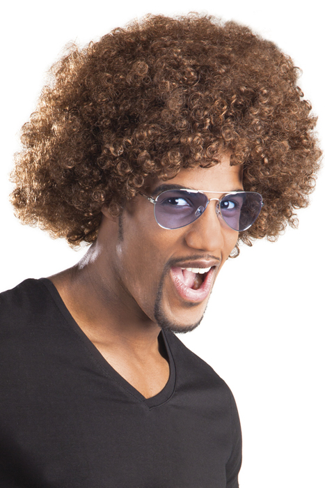 Photo du produit Perruque afro/ clown marron volume adulte
