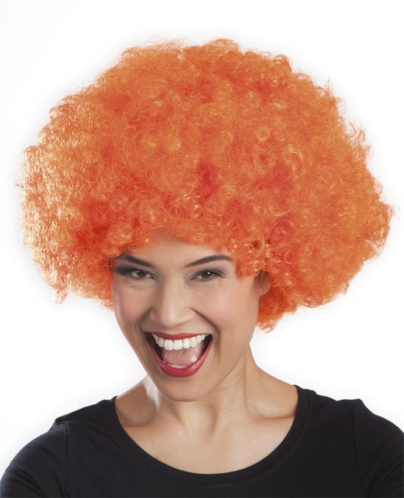 Photo du produit Perruque afro disco orange volume adulte