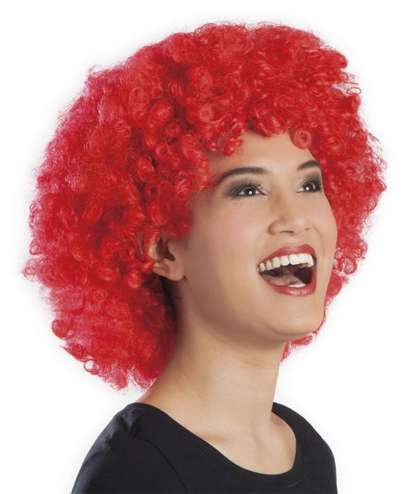 Photo du produit Perruque afro/ clown rouge volume adulte