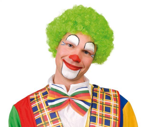Photo du produit Perruque afro verte fluo clown adulte