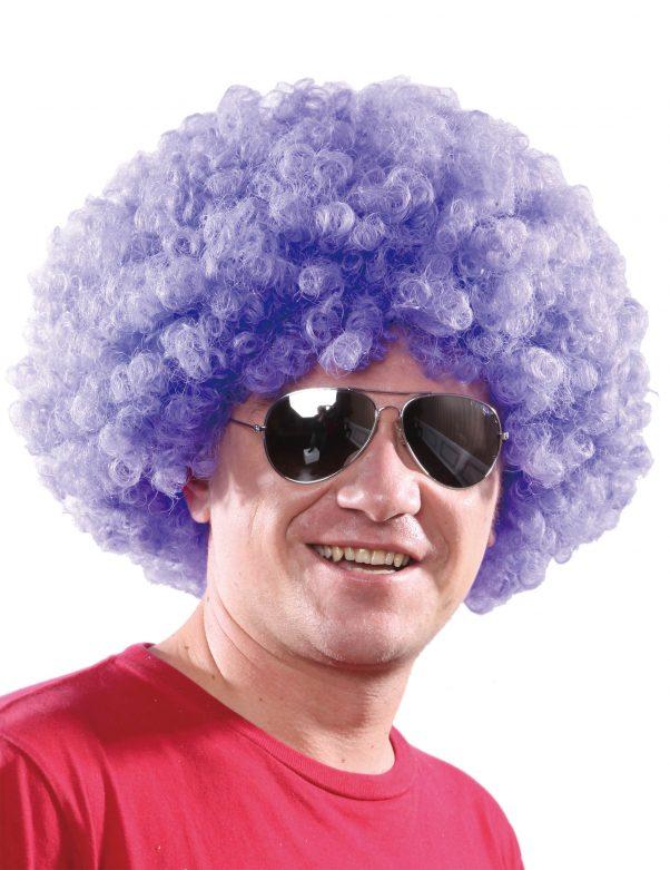 Photo du produit Perruque afro disco violette confort adulte