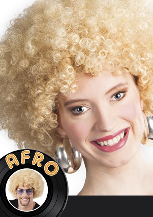 Photo du produit Perruque afro blonde volume femme
