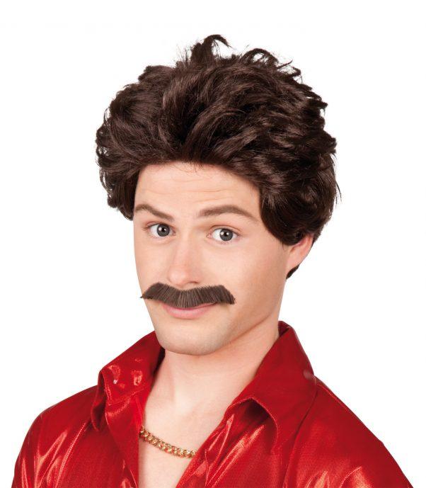 Photo du produit Perruque avec moustache homme