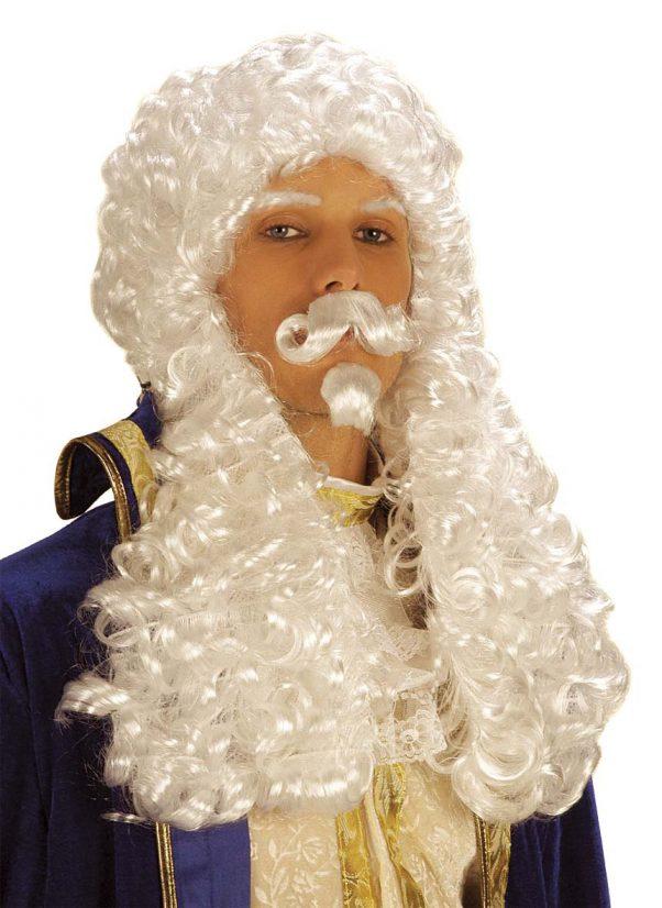 Photo du produit Perruque blanche François 1er homme