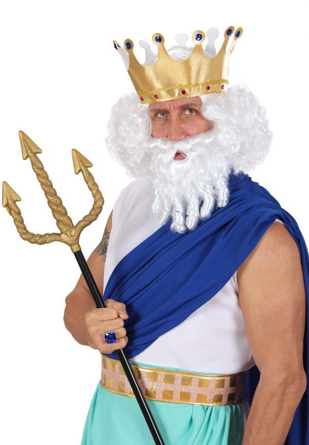 Photo du produit Perruque blanche dieu de la mer homme