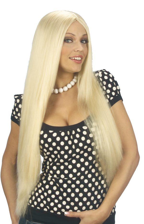 Photo du produit Perruque blonde avec cheveux long femme