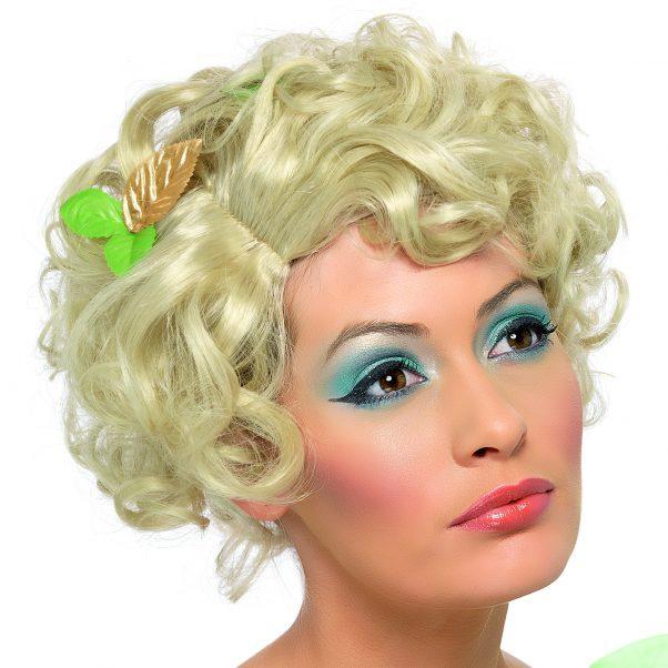 Photo du produit Perruque blonde courte bouclée accessoirisée femme