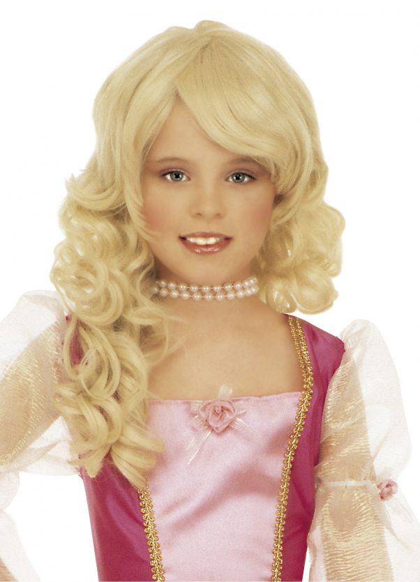 Photo du produit Perruque blonde princesse fille