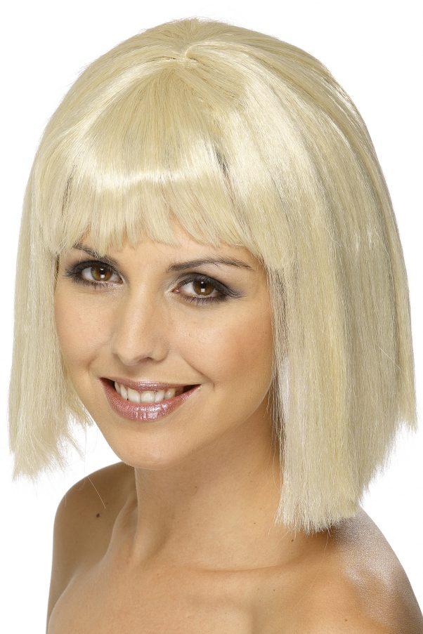 Photo du produit Perruque blonde au carré avec frange femme