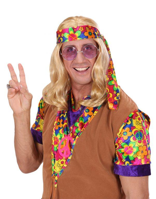 Photo du produit Perruque blonde hippie adulte