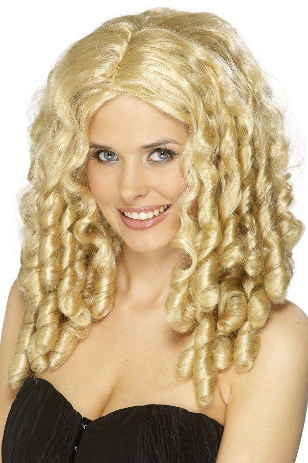 Photo du produit Perruque bouclée blonde femme
