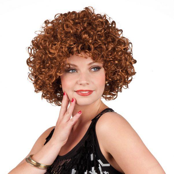 Photo du produit Perruque rétro bouclée marron femme