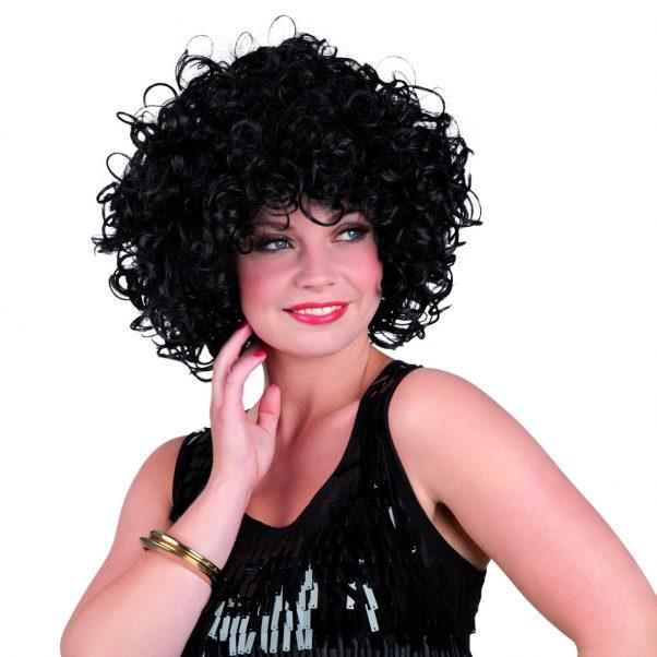 Photo du produit Perruque courte bouclée noire femme
