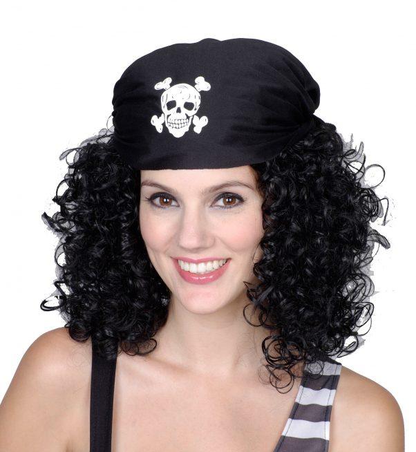Photo du produit Perruque brune de pirate femme