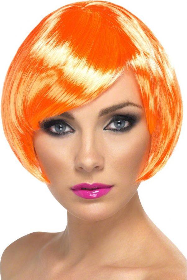 Photo du produit Perruque cabaret courte orange femme