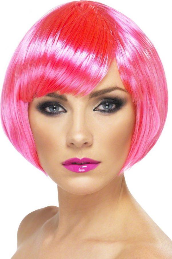 Photo du produit Perruque cabaret courte rose fluo femme