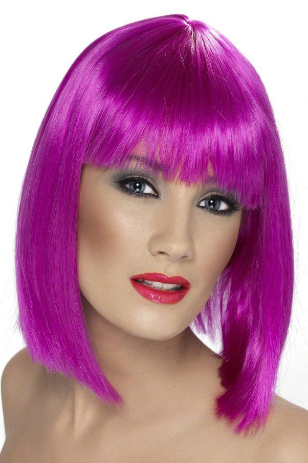 Photo du produit Perruque carré mi-long rose femme